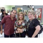 Noite de lançamento da exposição Arte Para Todos. Luis Mota…